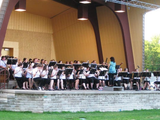 The Stevens Point City Band will perform on Wednesdays from June to August at the Pfiffner Pioneer Park bandshell.