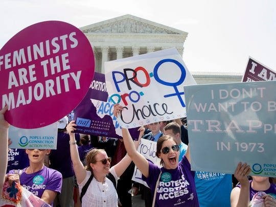 Pro-choice supporters outside the Supreme Court in June 2016.