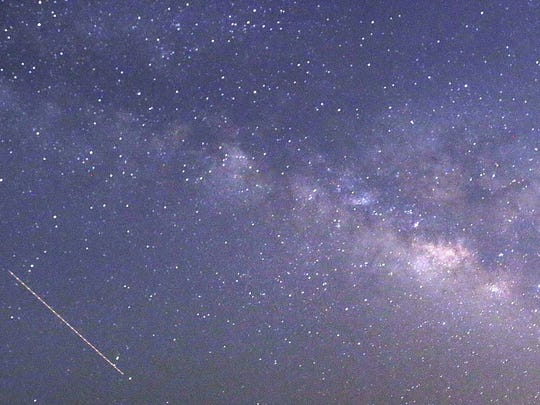 A meteor shower should be readily available to see this weekend.