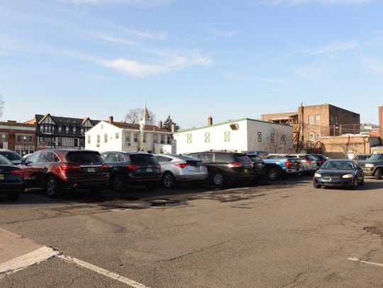 The Hudson Street lot in downtown Ridgewood, the site