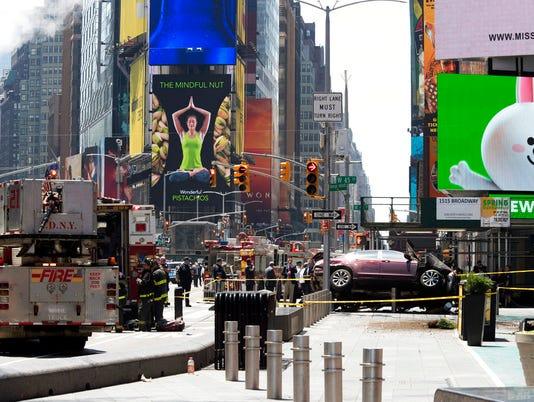 Times Square crash scene