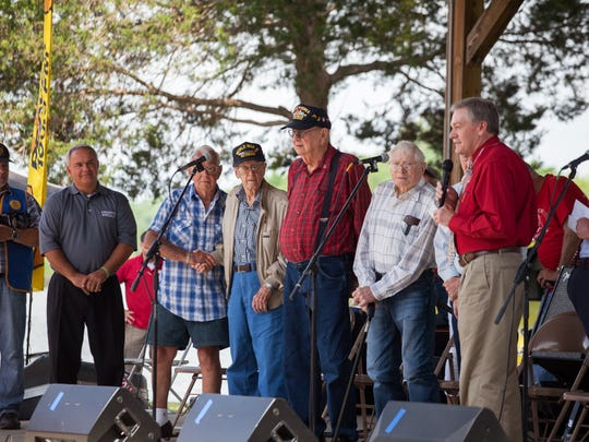 Recognizing military members like these World War II veterans, is a major part of Eagle Fest, which is always held the weekend before the Memorial Day Holiday weekend in Dover.