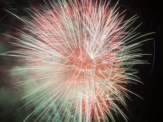 A huge fireworks display traditionally closes out Saturday's activities at Eagle Fest.