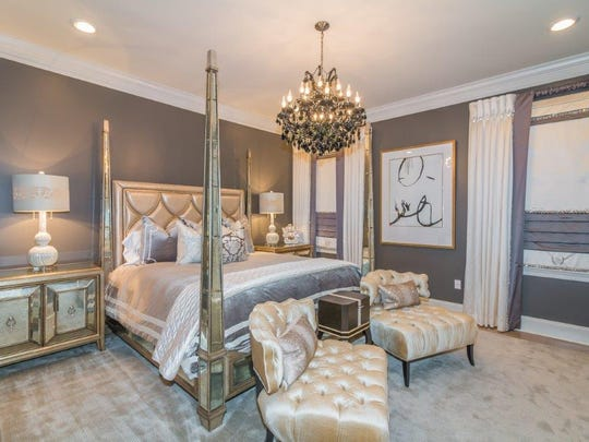 The master bedroom suite is stunning luxury.