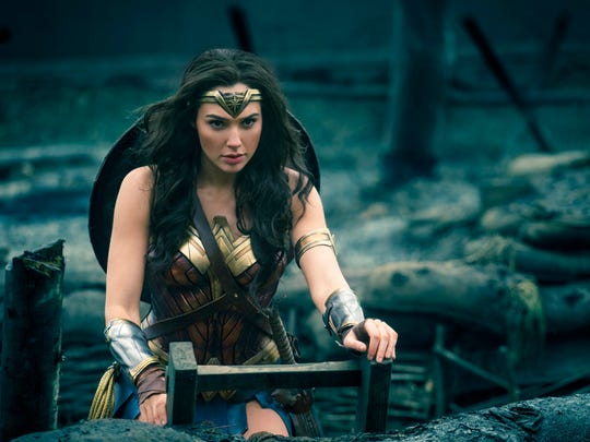 "Gal Gadot in a scene from ""Wonder Woman."" The film"
