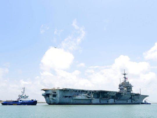 Former aircraft carrier the USS Independence enters