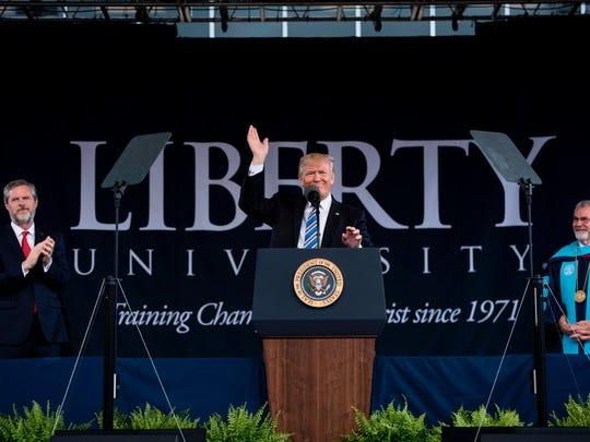 President Trump at Liberty