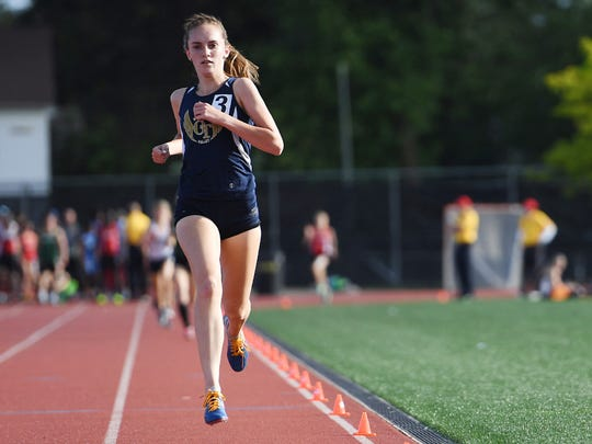 NV/Old Tappan's Caroline O'Sullivan took 10 seconds off her personal-best time in the 1,600 to place second in Group 3.