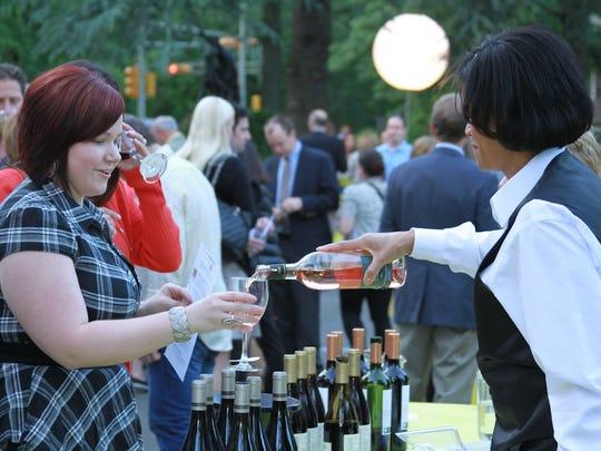 Wine bar event at the Montclair Art Museum.