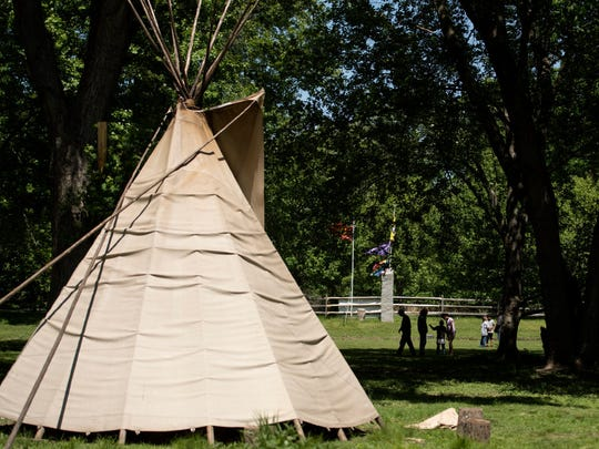 Mayor Bill Laforet says tepees that the township said violated local zoning law have been removed from the Ramapoughs' Mahwah property.