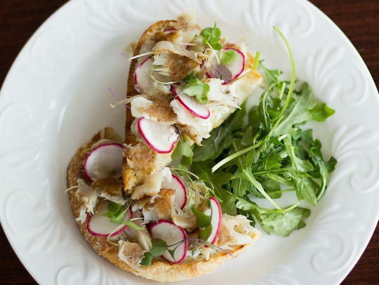 Smoked trout toast, one of the cafe menu items at Miss