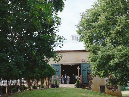Barn doors open to the fresh air at Johnson's Locust