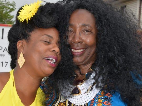 Festival Founder BiBi Bennett shares a moment with