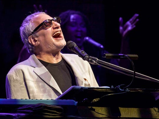 Steely Dan's Donald Fagen performs with his band the Nightflyers Tuesday at the Riverside Theater.