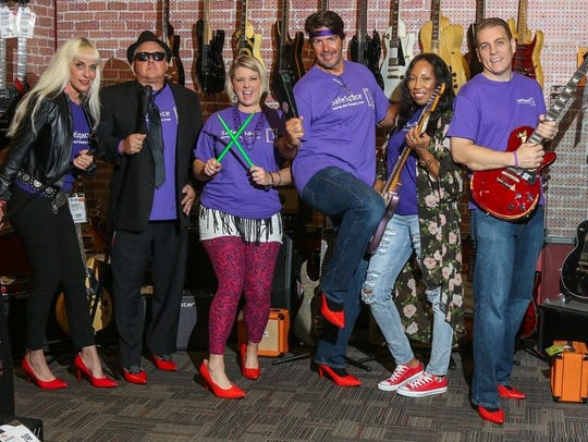 Walk A Mile in Her Shoes® co-chairs are: Martin County,
