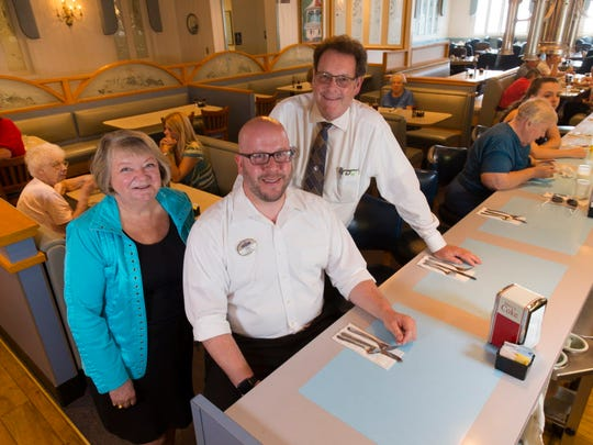 Schreiner's Restaurant owners Joan and Paul Cunningham (back) and general manager and son-in-law Nathan Haupt had to reduce hours at the Fond du Lac restaurant because Fond du Lac County has a severe labor shortage and they can no longer find enough competent, reliable workers to keep the restaurant open for dinner every day.