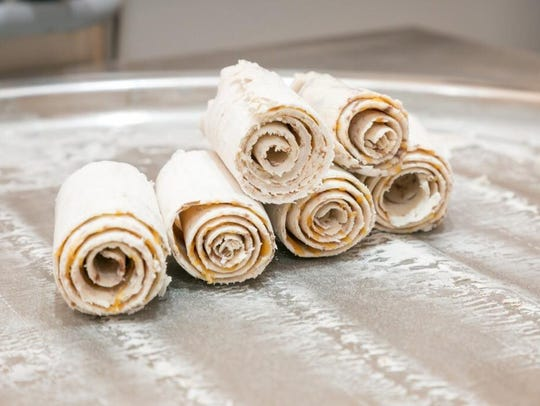 Freshly-rolled ice cream from Sweet Swirls Rolled Ice