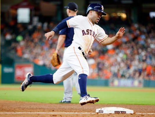 USP MLB: SEATTLE MARINERS AT HOUSTON ASTROS S BBA HOU SEA USA TX