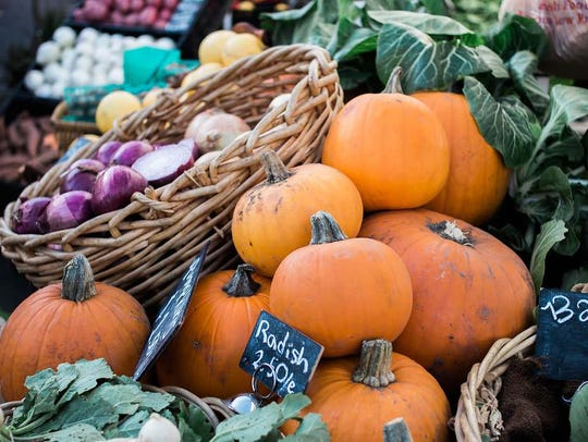 Fall produce at Crooked Sky Farms stand