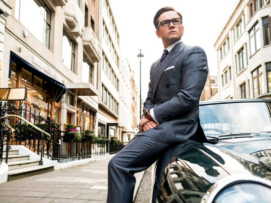 "Taron Egerton in ""Kingsman: The Golden Circle.""  The movie opens Sept. 21 at Regal West Manchester Stadium 13 and Frank Theatres Queensgate Stadium 13."