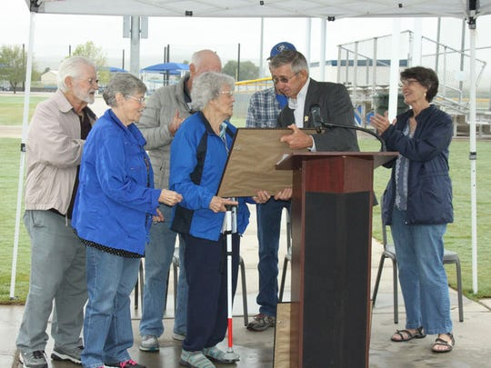 City of Carlsbad Mayor Dale Janway dedicated two fields at the Bob Forrest Sports Complex.