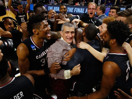 Head coach Frank Martin and the South Carolina Gamecocks