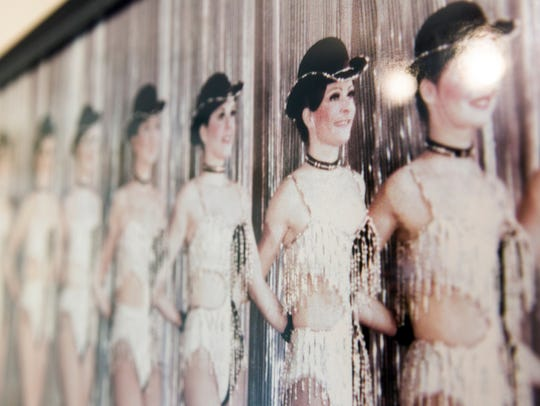 A photo of Eileen Collins with her fellow Rockettes.