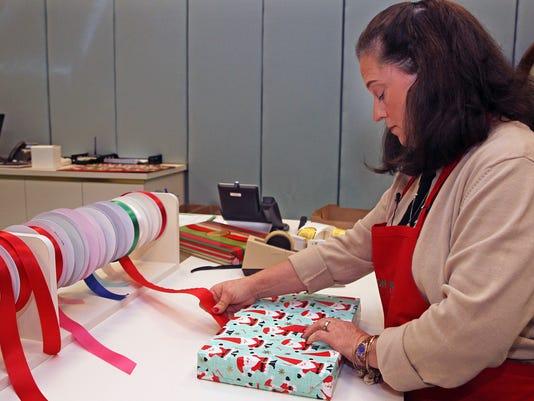 Gift wrapping at Von Maur