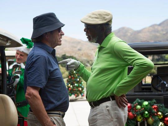 "Tommy Lee Jones, left, and Morgan Freeman star in ""Just"