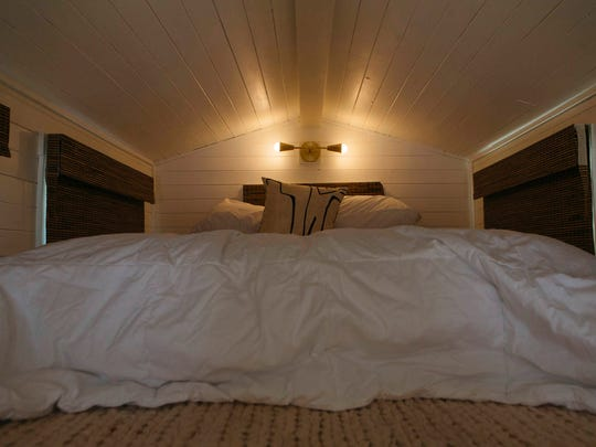 This Nov. 14, 2017, photo shows the interior of a tiny house in Las Vegas.