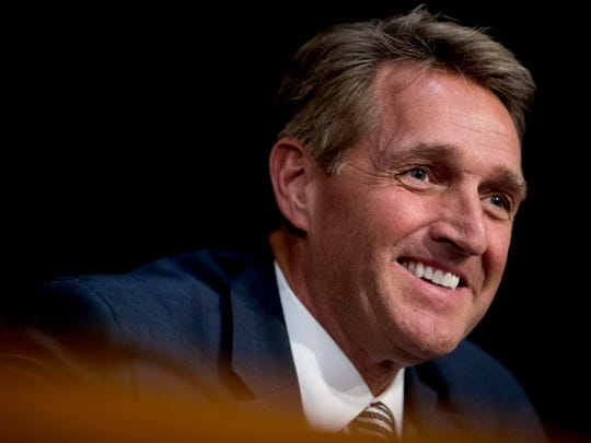 Sen. Jeff Flake, R-Arizona, said to ABC's This Week on Sunday, that he's not planning on running against President Trump in 2020, but he's not ruling it out either.