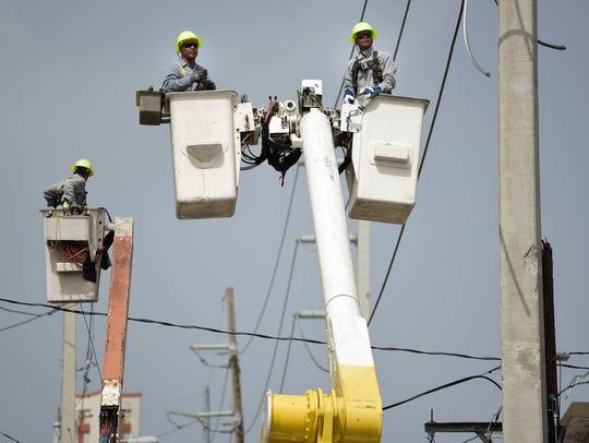 Union leaders representing Puerto Rico power company