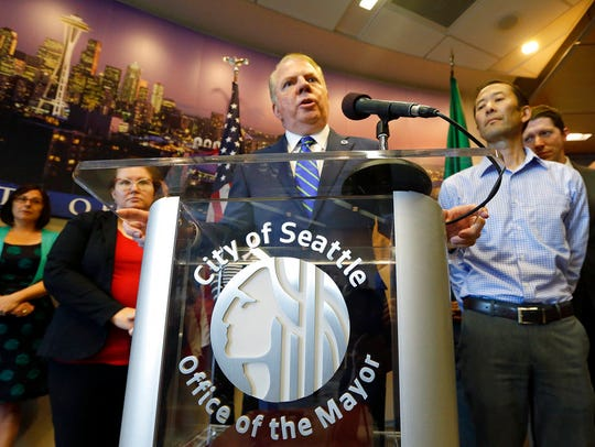 FILE - In this June 14, 2017, file photo, Seattle Mayor