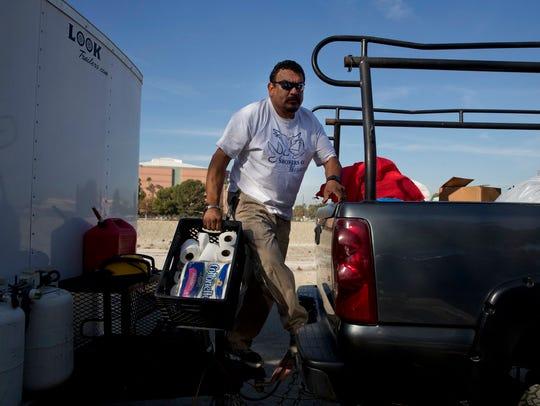Armando Olvera, 49, who has been providing mobile showers