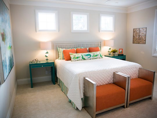 Of of the guest bedrooms at the Chelston home in Naples on Friday, November 17, 2017.