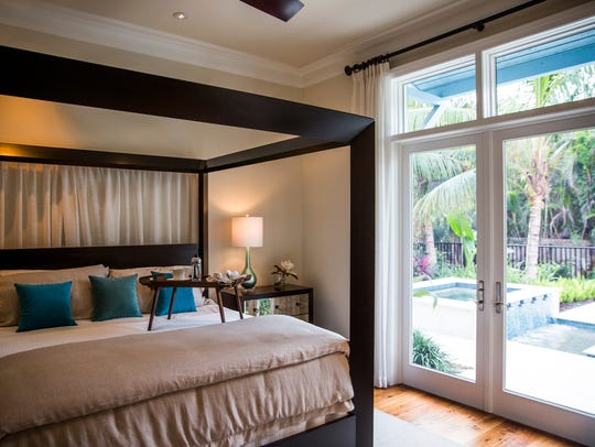 The master bedroom of the Chelston home in Naples on