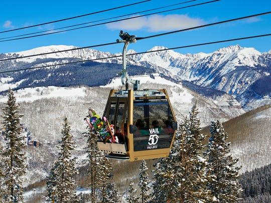 Ski lift in Vail, Co.