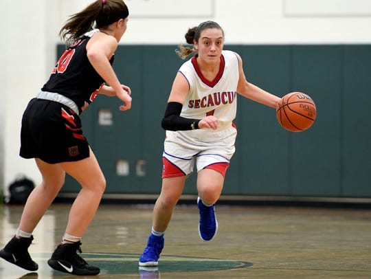 Secaucus junior G Amanda Ulrich posted a triple-double
