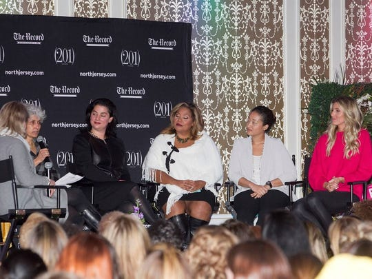 Panelists at the Women for Women event, held Tuesday night at The Terrace in Paramus.