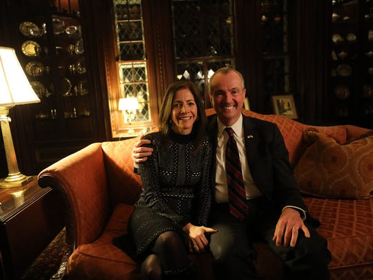Tammy Murphy and her husband, Gov. Phil Murphy, in