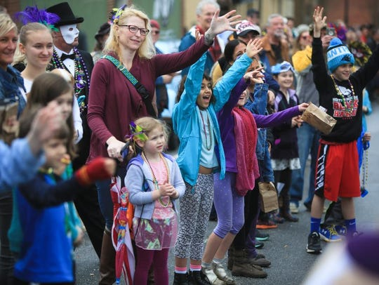 Scenes from the 2018 Asheville Mardi Gras parade, as
