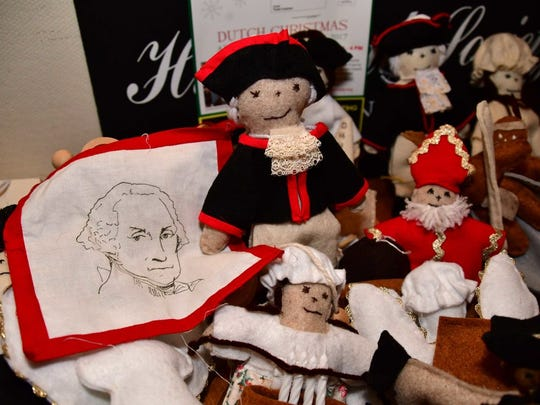 Irene Maletsky made these Washington dolls to benefit the historical society at the Van Allen House in Oakland.  Gen. Washington stayed at the house during the Revolution.
