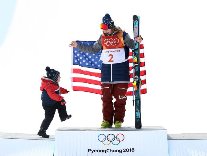In 2018: David Wise of the United States celebrates