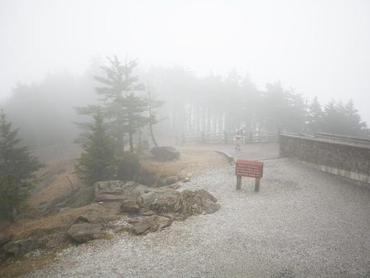 Mount Mitchell State Park is home to the annual Mount Mitchell Challenge, a 40-mile trail race held every February where runners take on often brutal weather conditions as they run from Black Mountain to the 6,684-foot summit and back. This photo is from Feb. 24, 2018.