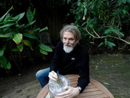 In this Dec. 22, 2017, file photo, Dale Gieringer, of NORML (National Organization for the Reform of Marijuana Laws), poses at his house in Berkeley, Calif.