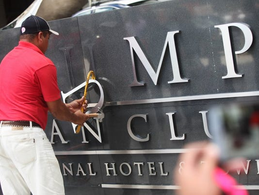 Trump's name removed from Panama hotel