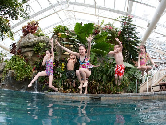 The Biosphere pool complex is a complete tropical paradise