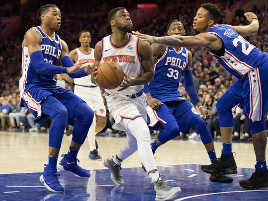 Knicks guard Emmanuel Mudiay is averaging 16.5 points in his past two games. He had started the previous 14 games he appeared in.