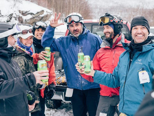 Tailgaters at Smugglers' Notch Resort at the end of
