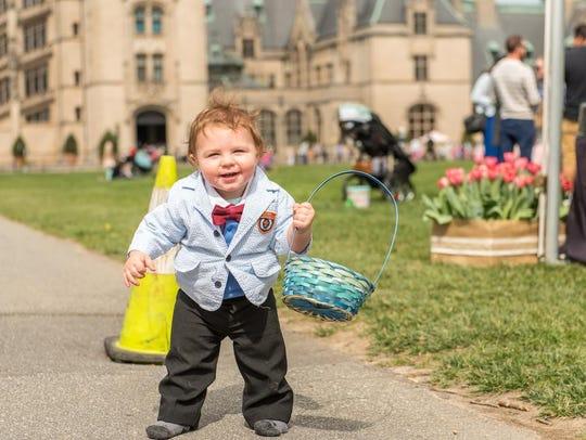 Biltmore Estate hosts its annual egg hunt on Easter Sunday.